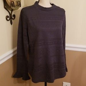 NWT Loft Ruffle Sleeve Top